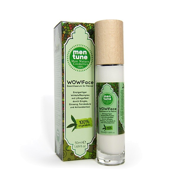MenTune WOW!Face Gesichts-Serum Hautpflege Men Naturkosmetik verjüngende Gesichtscreme 50ml vegan