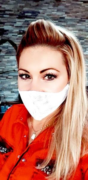 Maske Activ-Mask weiß zweilagig grobmaschig weitmaschig Mund-Nase-Bedeckung MNB halb-transparent